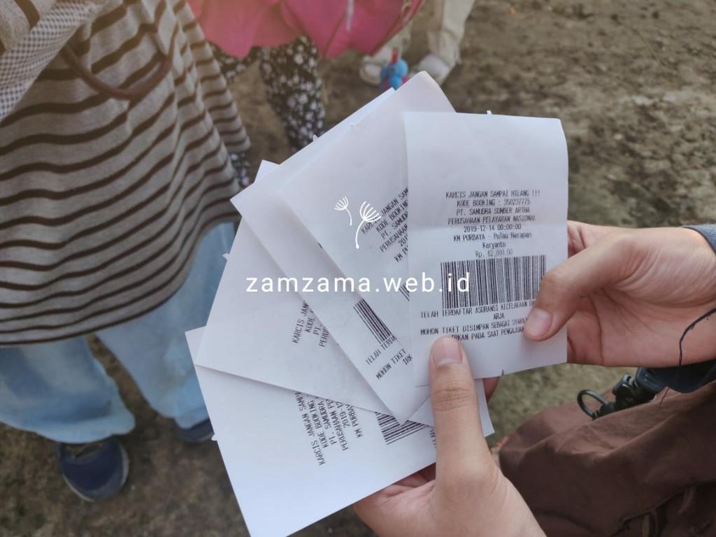 Harga tiket Rp.69.000 /orang